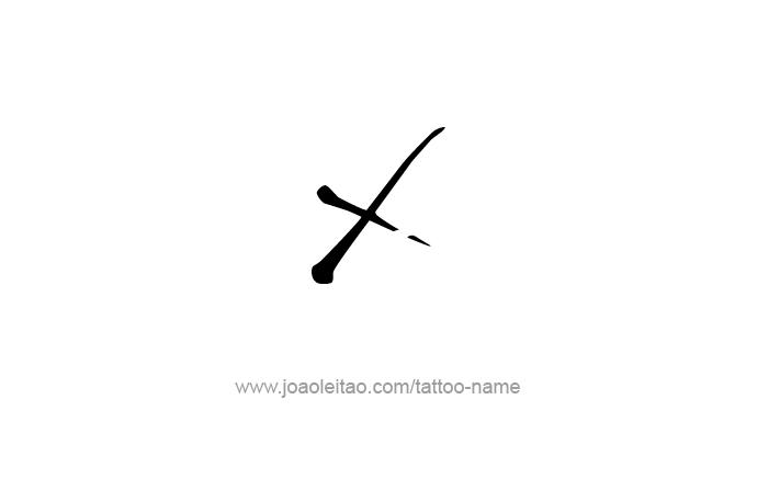 X Roman Numeral Tattoo...