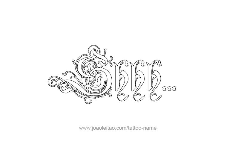 Tattoo Phrase Design