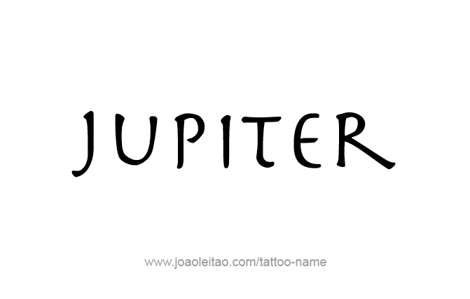 Jupiter Planet Name Tattoo Designs - Page 2 of 5 - Tattoos ...