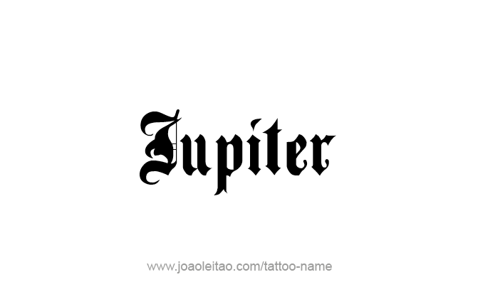 Jupiter Planet Name Tattoo Designs - Page 3 of 5 - Tattoos ...