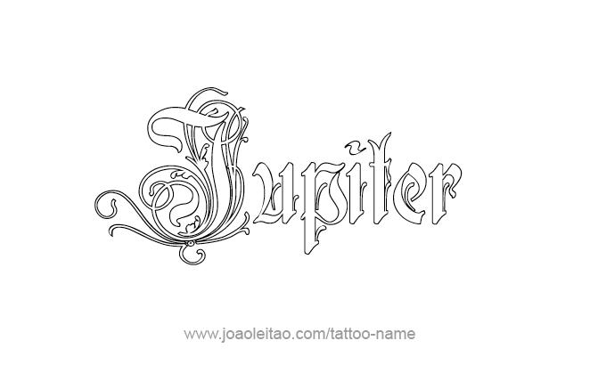 Jupiter Planet Name Tattoo Designs - Page 4 of 5 - Tattoos ...