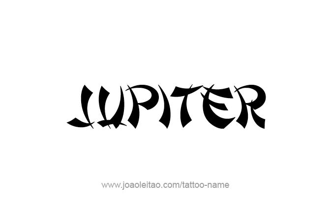 Jupiter Planet Name Tattoo Designs Page 5 Of 5 Tattoos