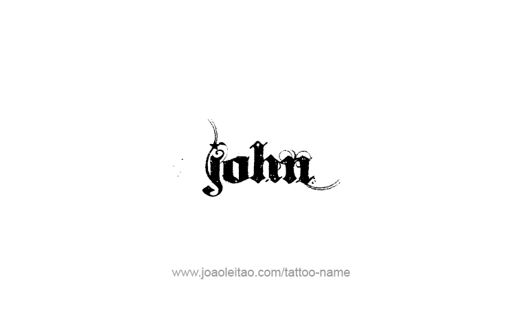 Name John Tattoo Tattoo Design Prophet Name