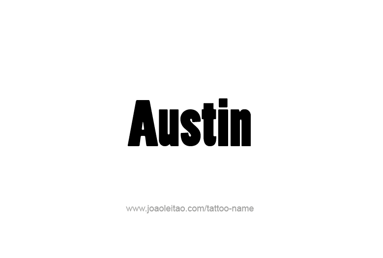 Austin Usa Capital City Name Tattoo Designs Page 2 Of 5