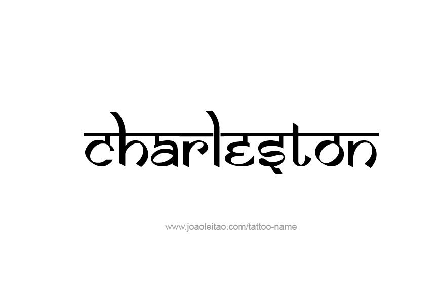 Charleston usa capital city name tattoo designs tattoos for Tattoo charleston sc