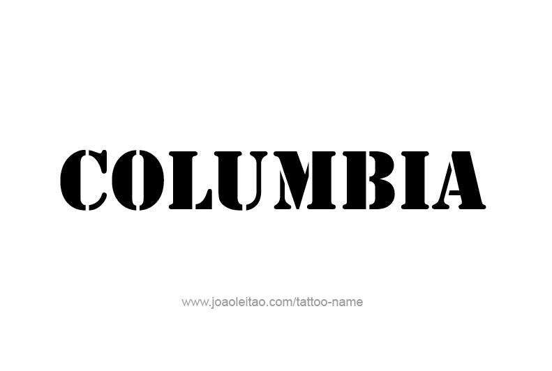 Rental Cars Salt Lake City >> Columbia USA Capital City Name Tattoo Designs - Page 2 of ...