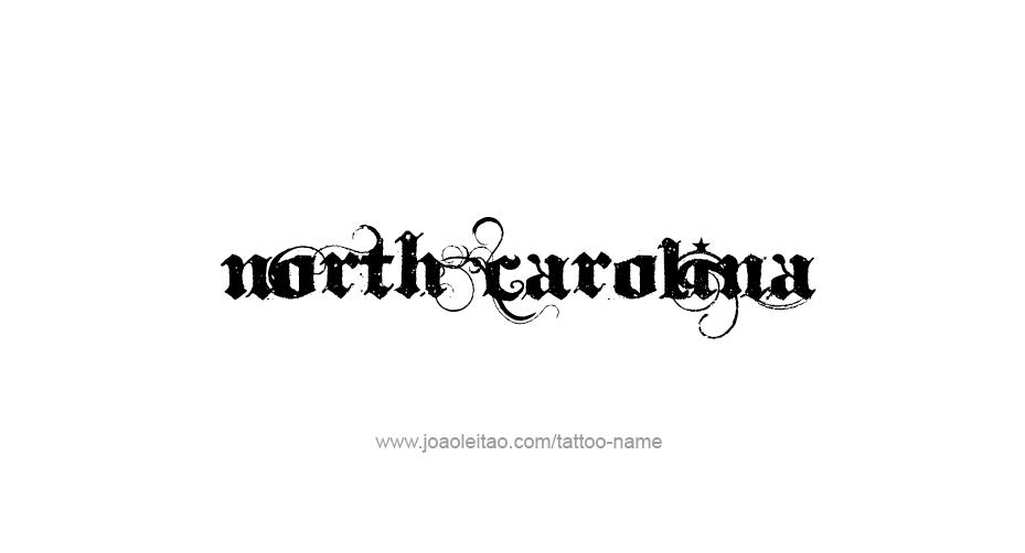 North carolina usa state name tattoo designs page 2 of 5 for North carolina tattoo ideas