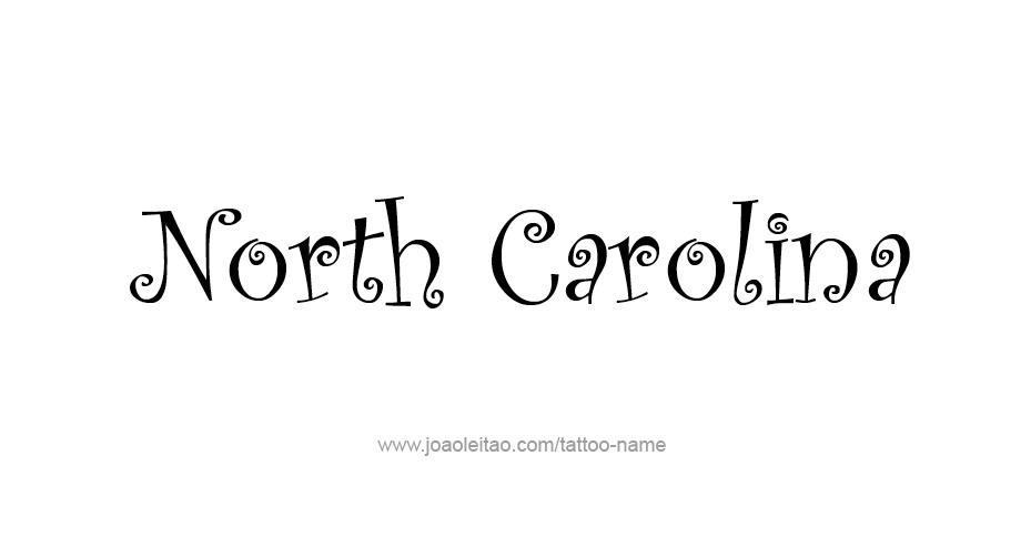 Tattoo design usa state north carolina for North carolina tattoo ideas
