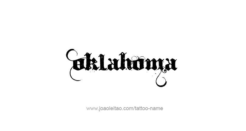 Oklahoma usa state name tattoo designs page 3 of 5 for Oklahoma flag tattoo