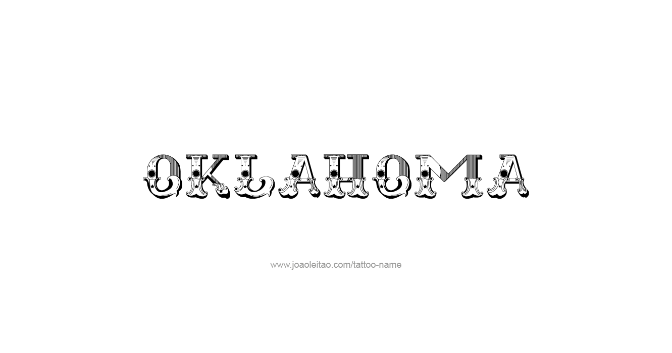 Oklahoma usa state name tattoo designs page 5 of 5 for Oklahoma flag tattoo