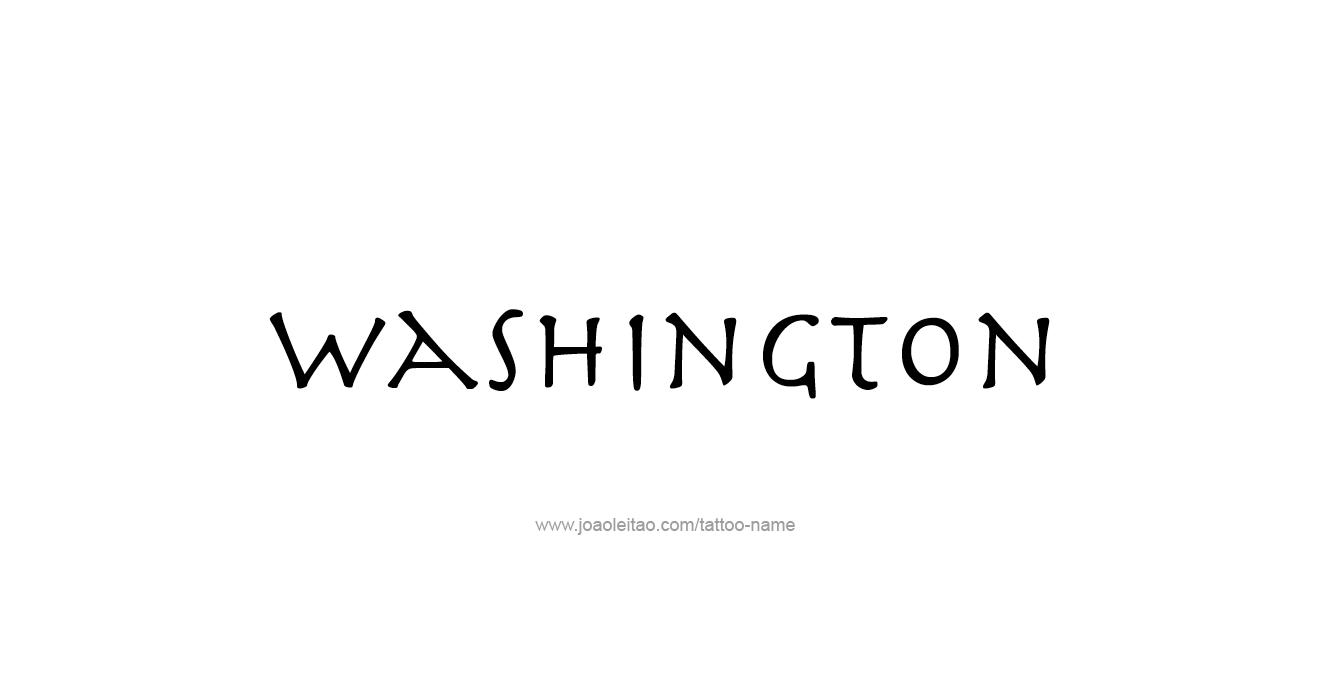 Washington usa state name tattoo designs page 2 of 5 for Washington state tattoos