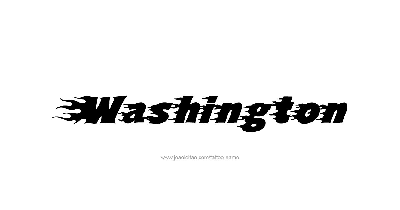 Washington usa state name tattoo designs tattoos with names for Washington state tattoos