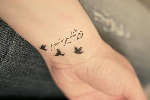 Female Wrist Tattoo - Inner Wrist Tattoo Design with Birds