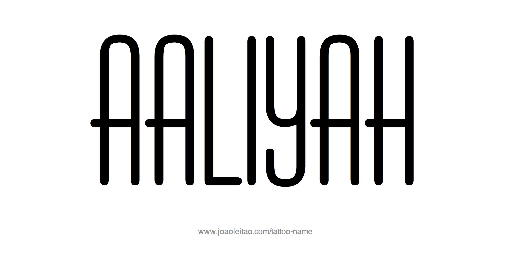 Aaliyah Name Tattoo Designs