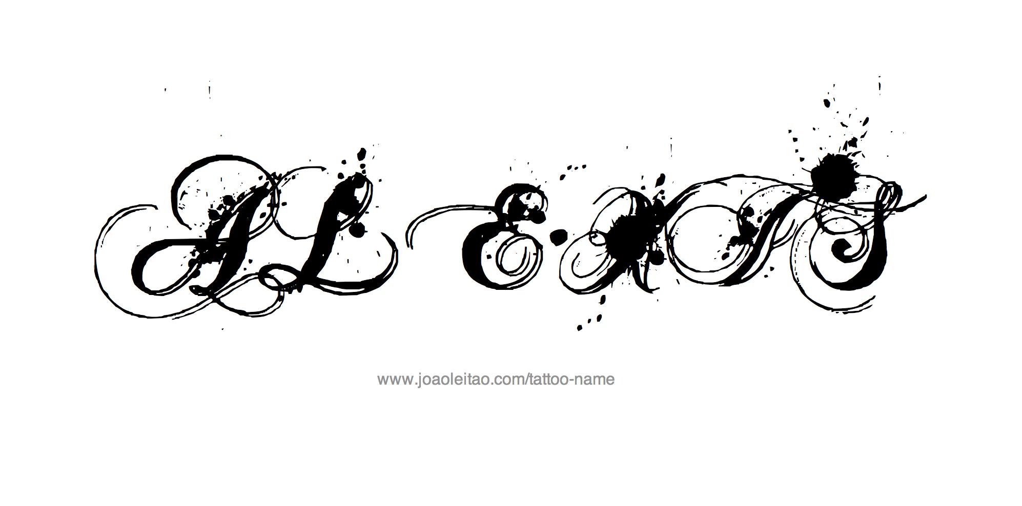 Name tattoo designs free - Tattoo Design Name Alexis