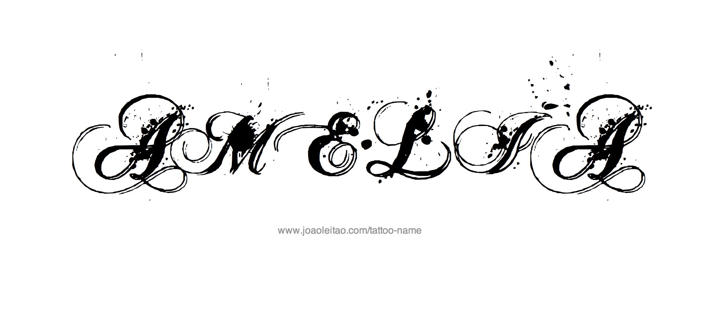amelia name tattoo designs. Black Bedroom Furniture Sets. Home Design Ideas