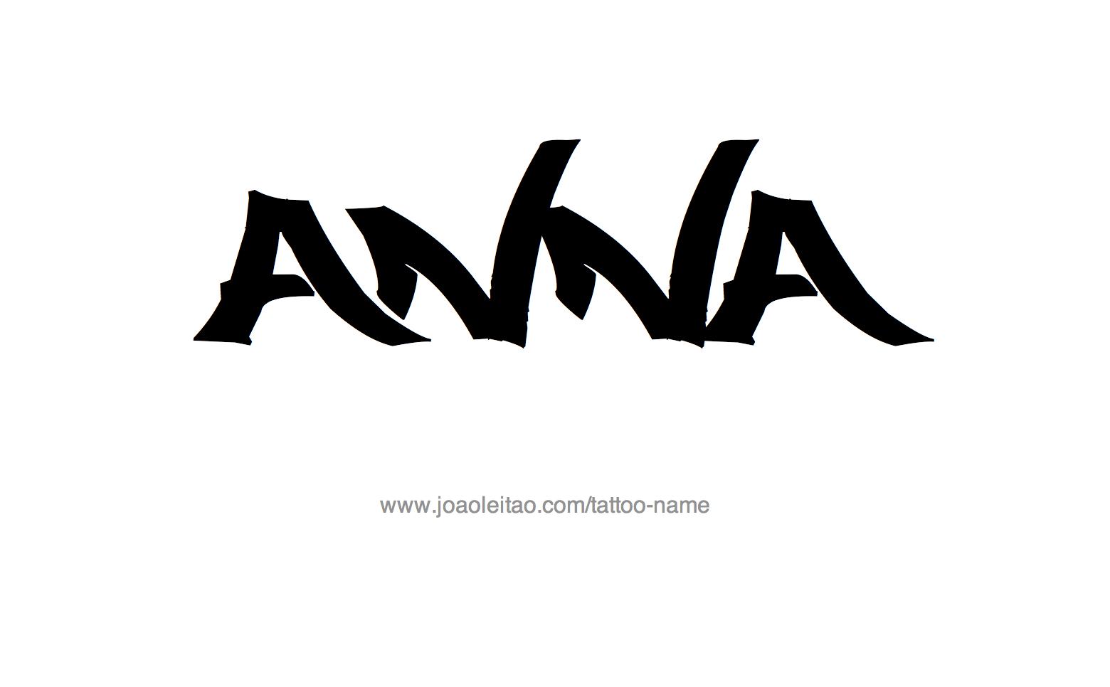 Anna Name Tattoo Designs