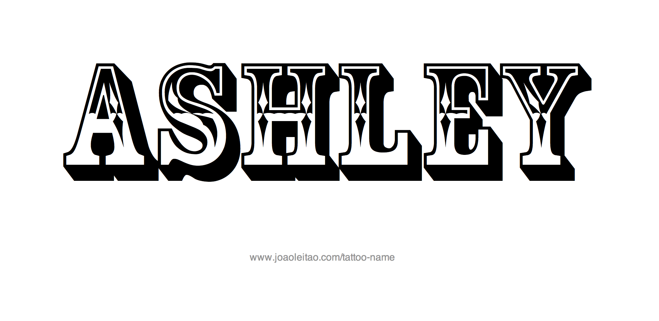 Ashley Name Tattoo Designs