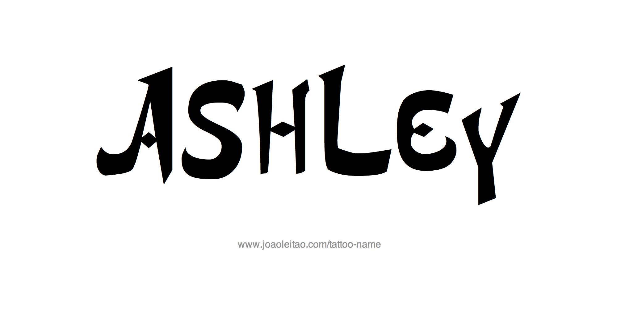 Name: Ashley Name Tattoo Designs