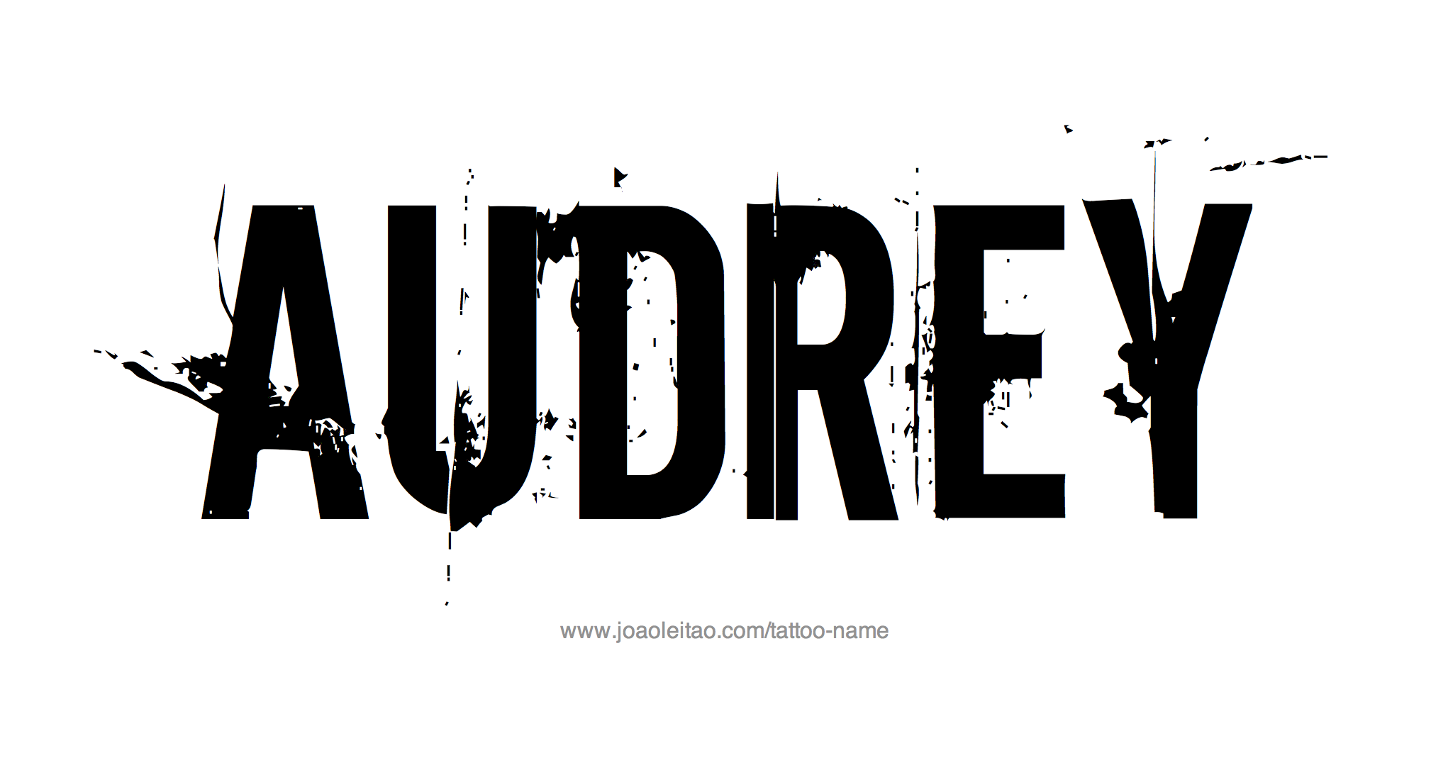 audrey name tattoo designs