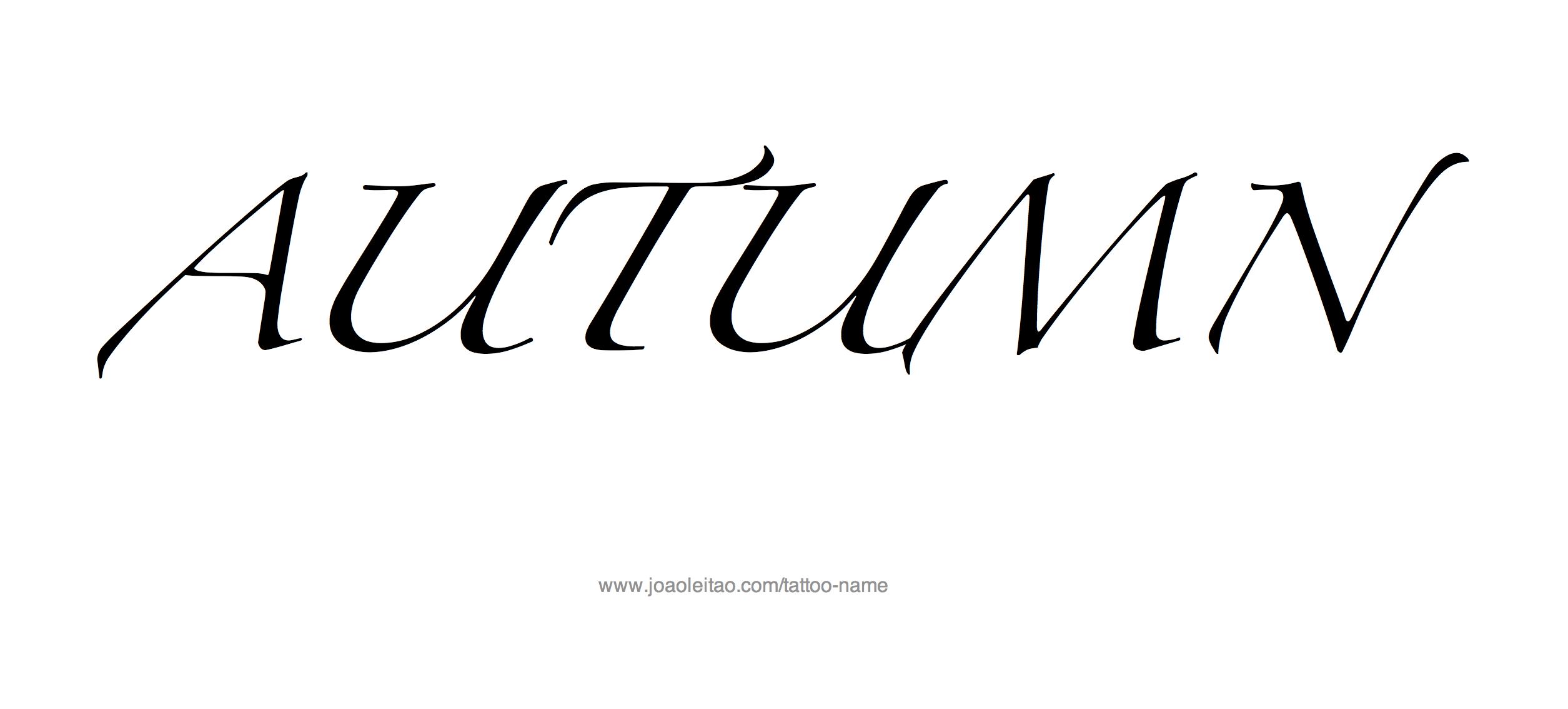 Car Rental Websites >> Autumn Name Tattoo Designs