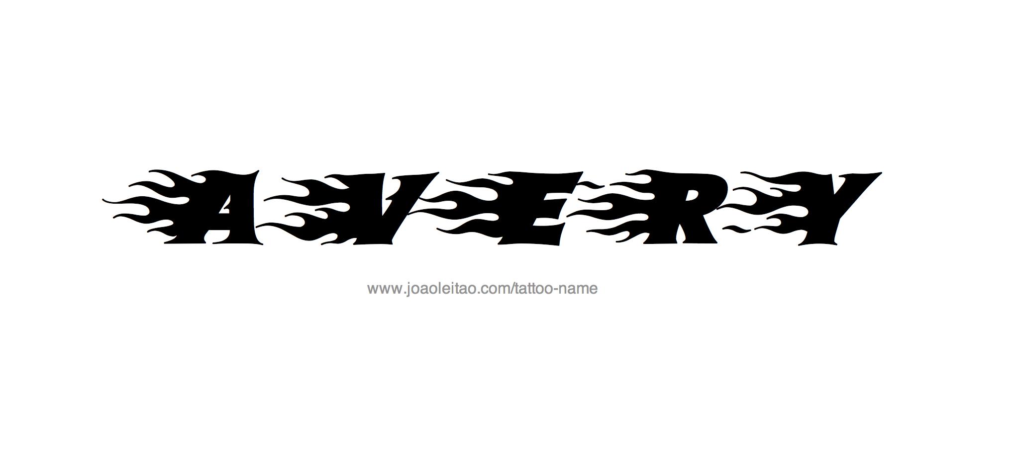 avery name tattoo designs