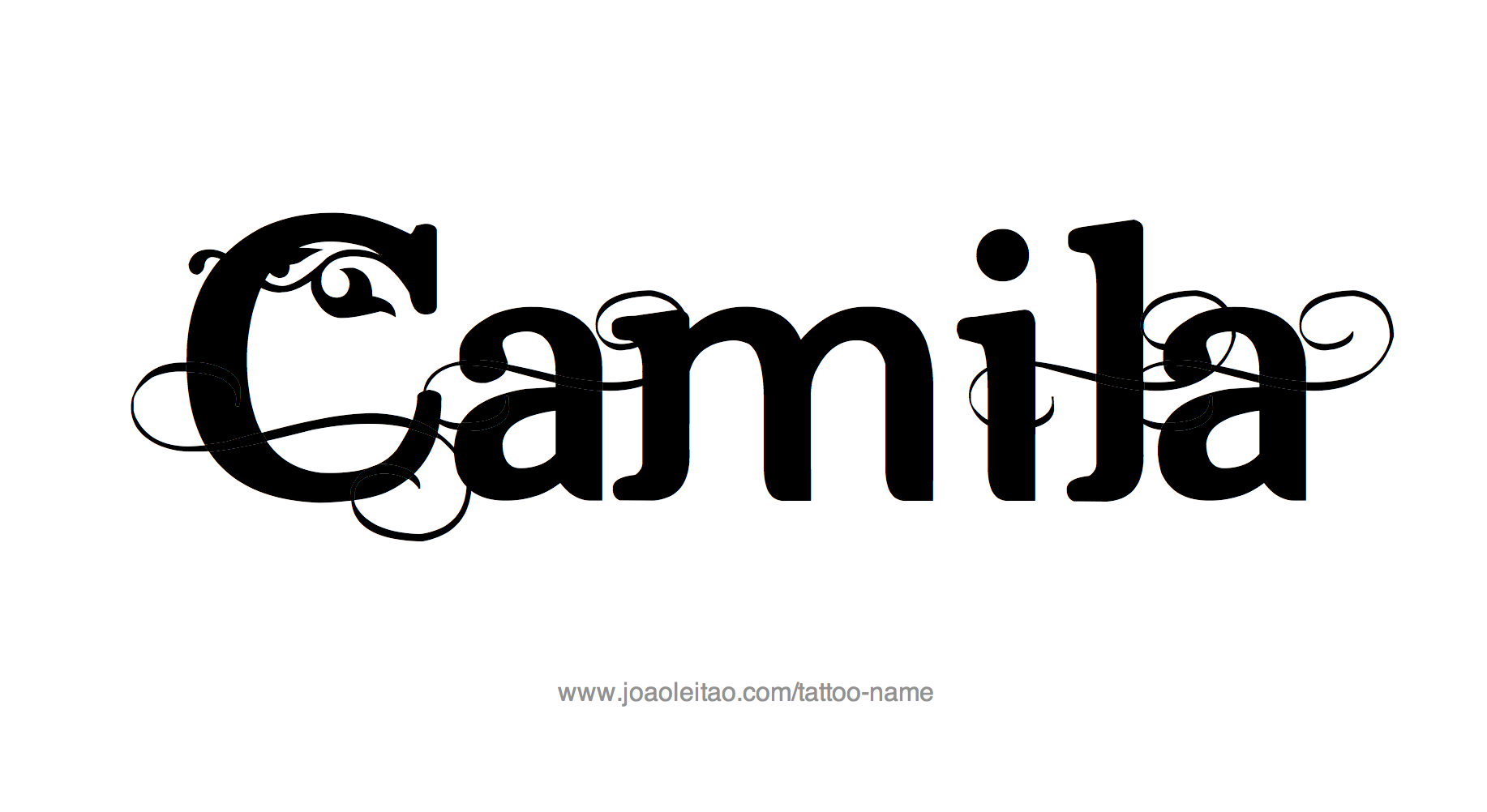 Camila Name Tattoo Designs