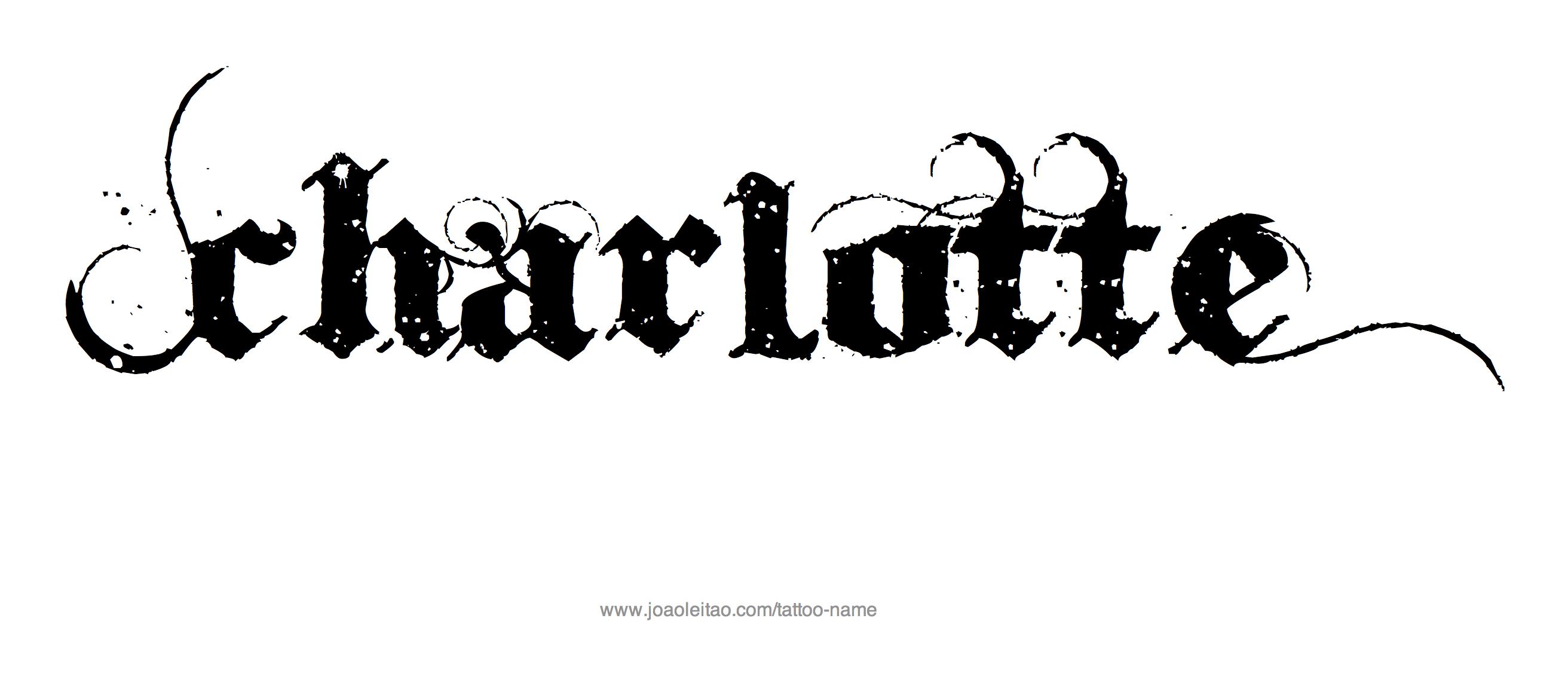 Charlotte Name Tattoo Designs