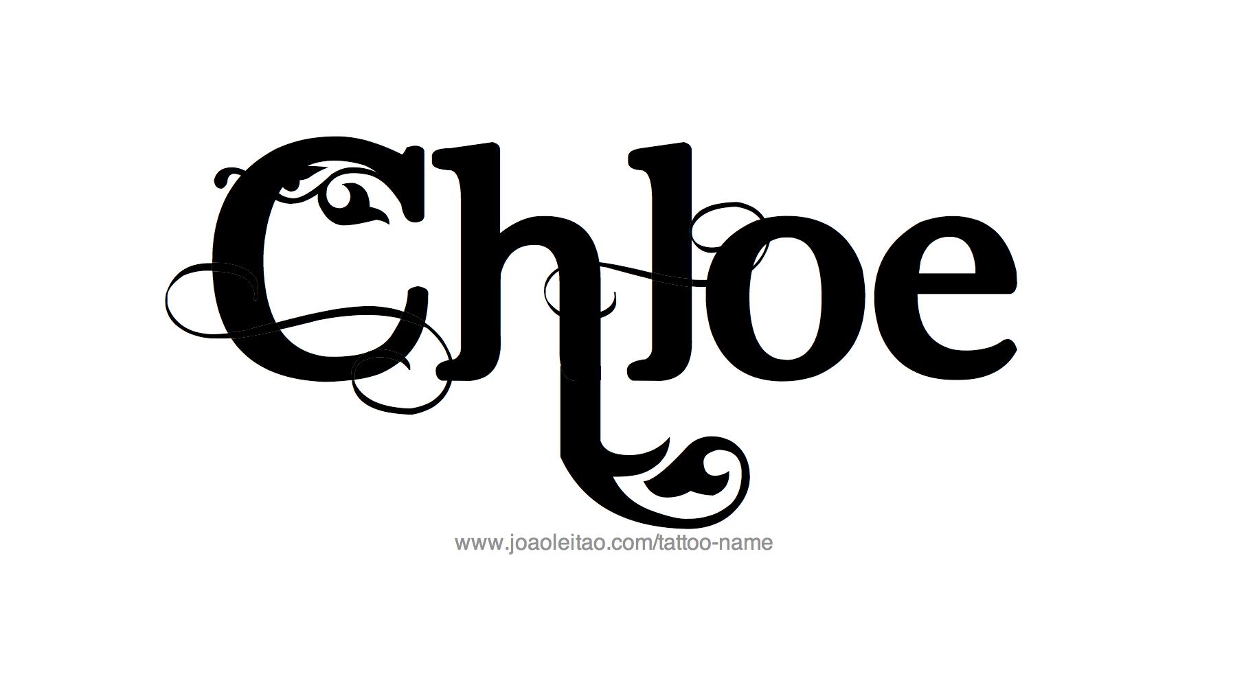 Chloe Name Tattoo Designs