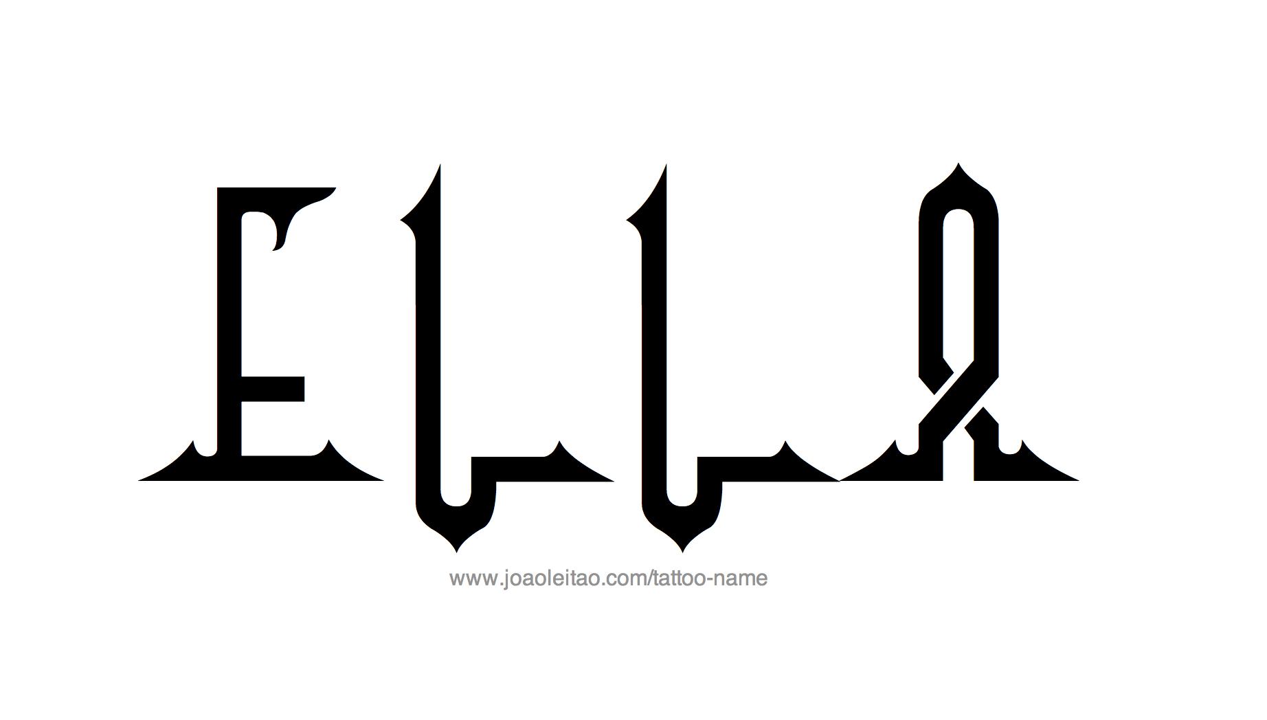 El Name: Ella Name Tattoo Designs