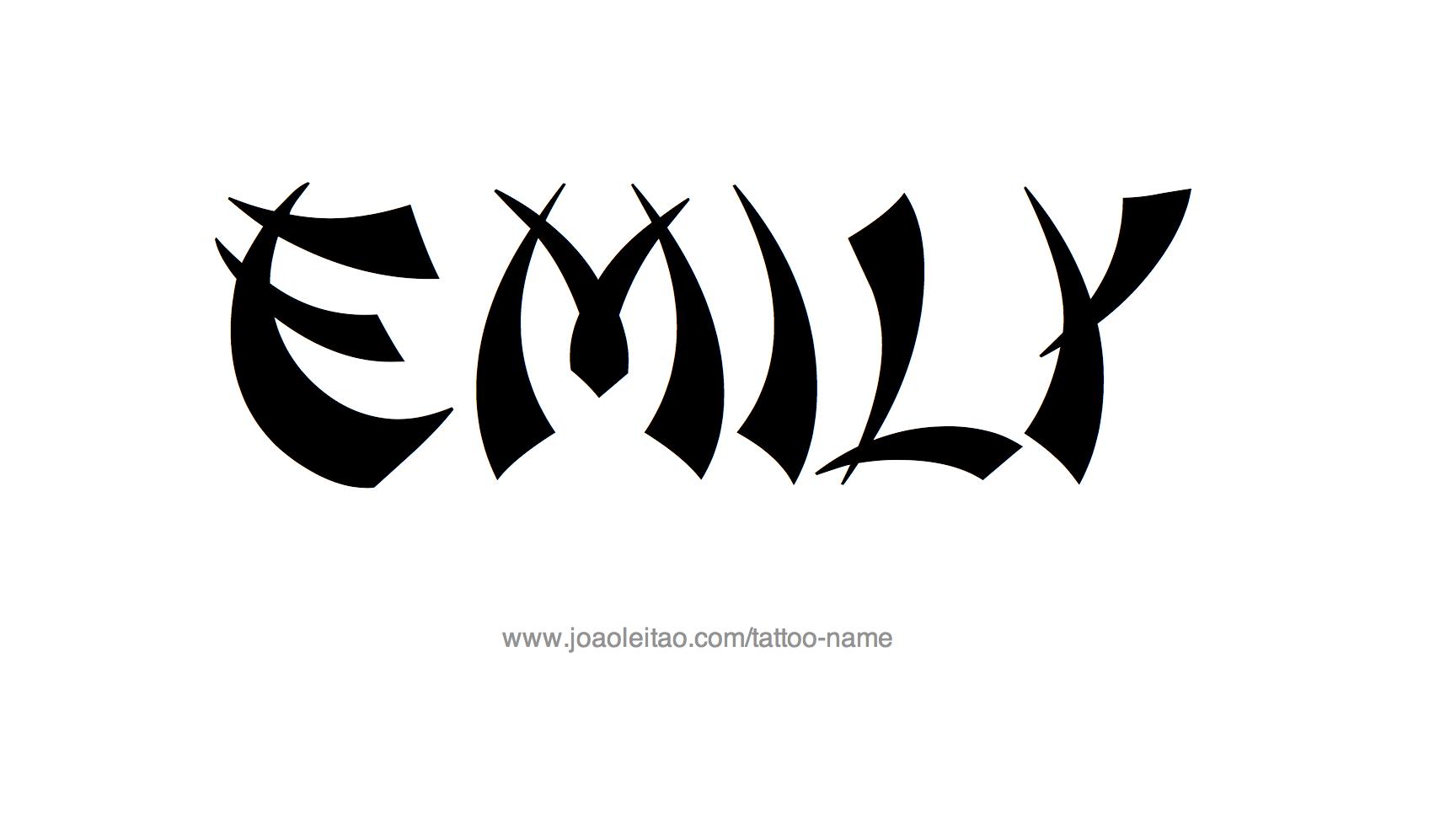 Tattoo Design Name Emily