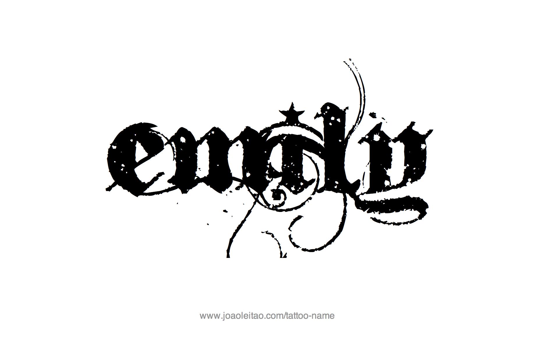 Emily Name Tattoo Designs