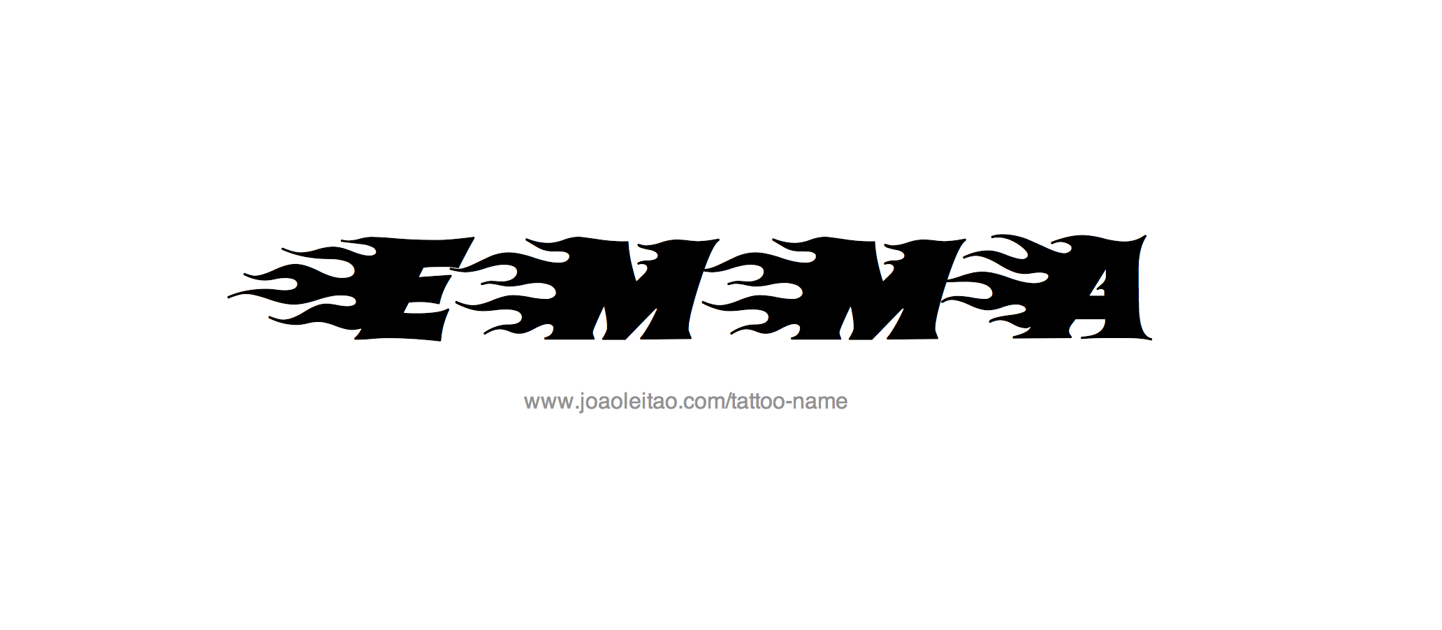 Emma Name Tattoo Designs