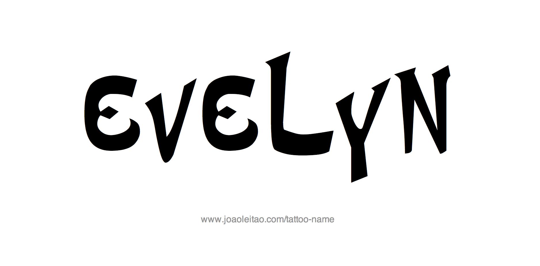 Tattoo Design Name Evelyn