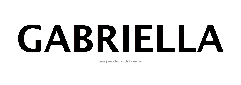 Gabriella Name Tattoo Designs