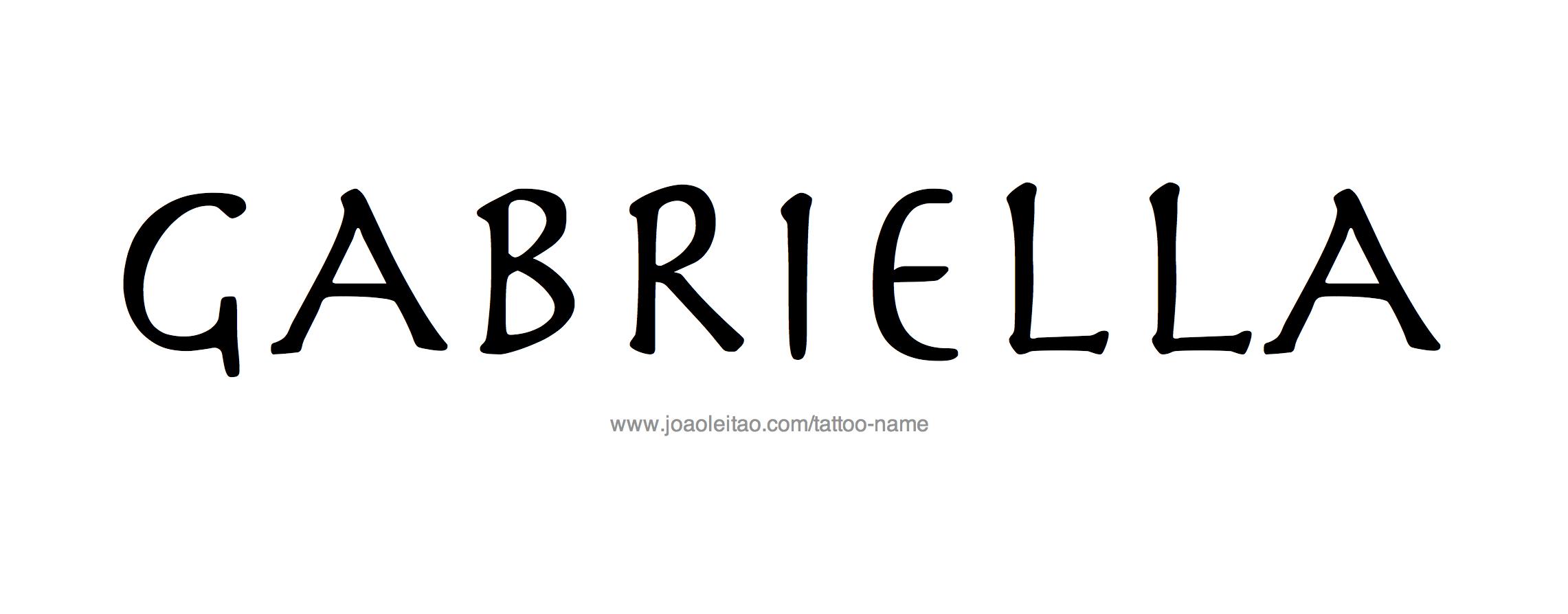 Name: Gabriella Name Tattoo Designs