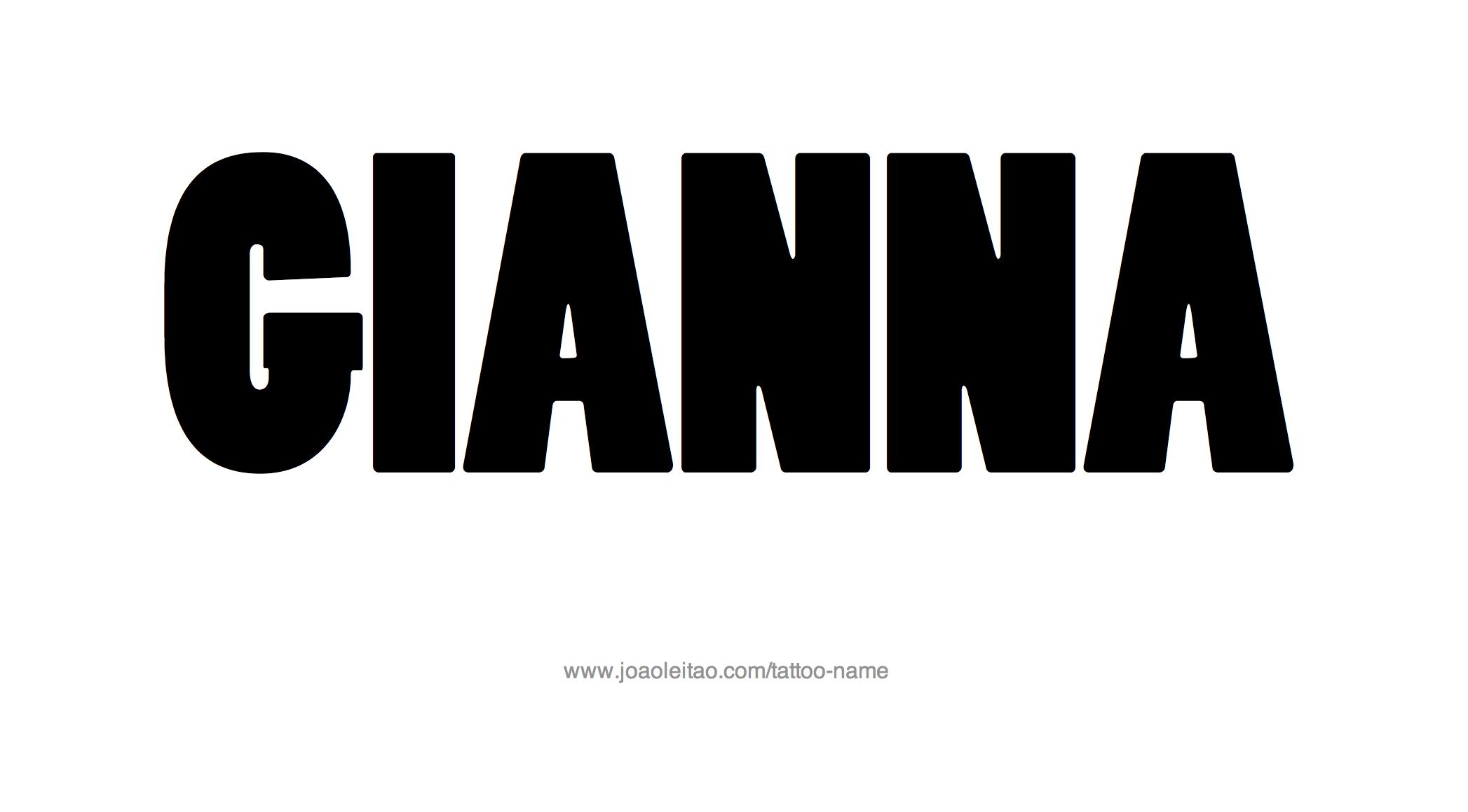 Name: Gianna Name Tattoo Designs