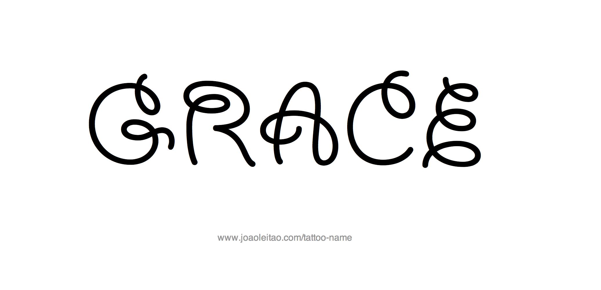 grace name tattoo designs. Black Bedroom Furniture Sets. Home Design Ideas