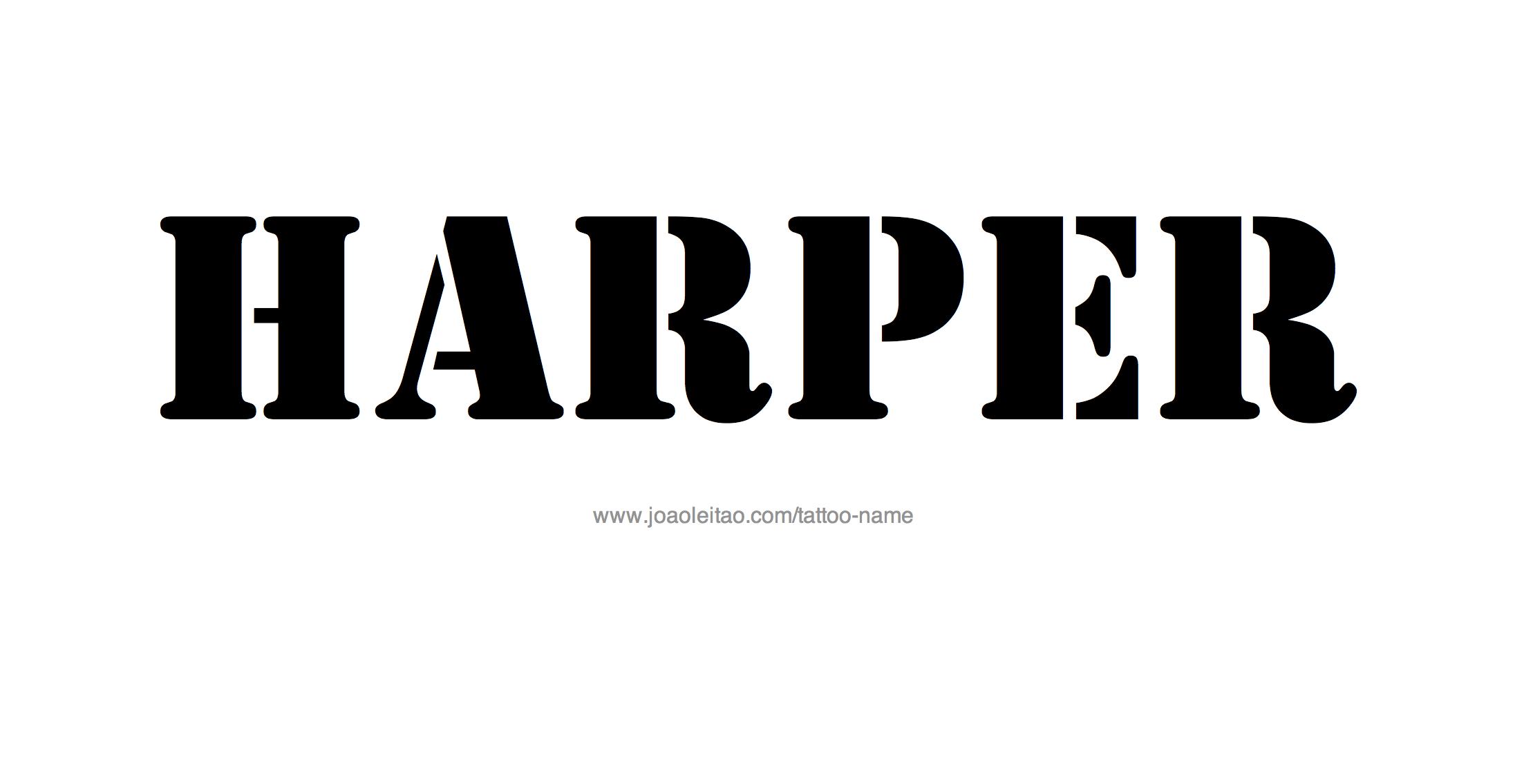 Name: Harper Name Tattoo Designs
