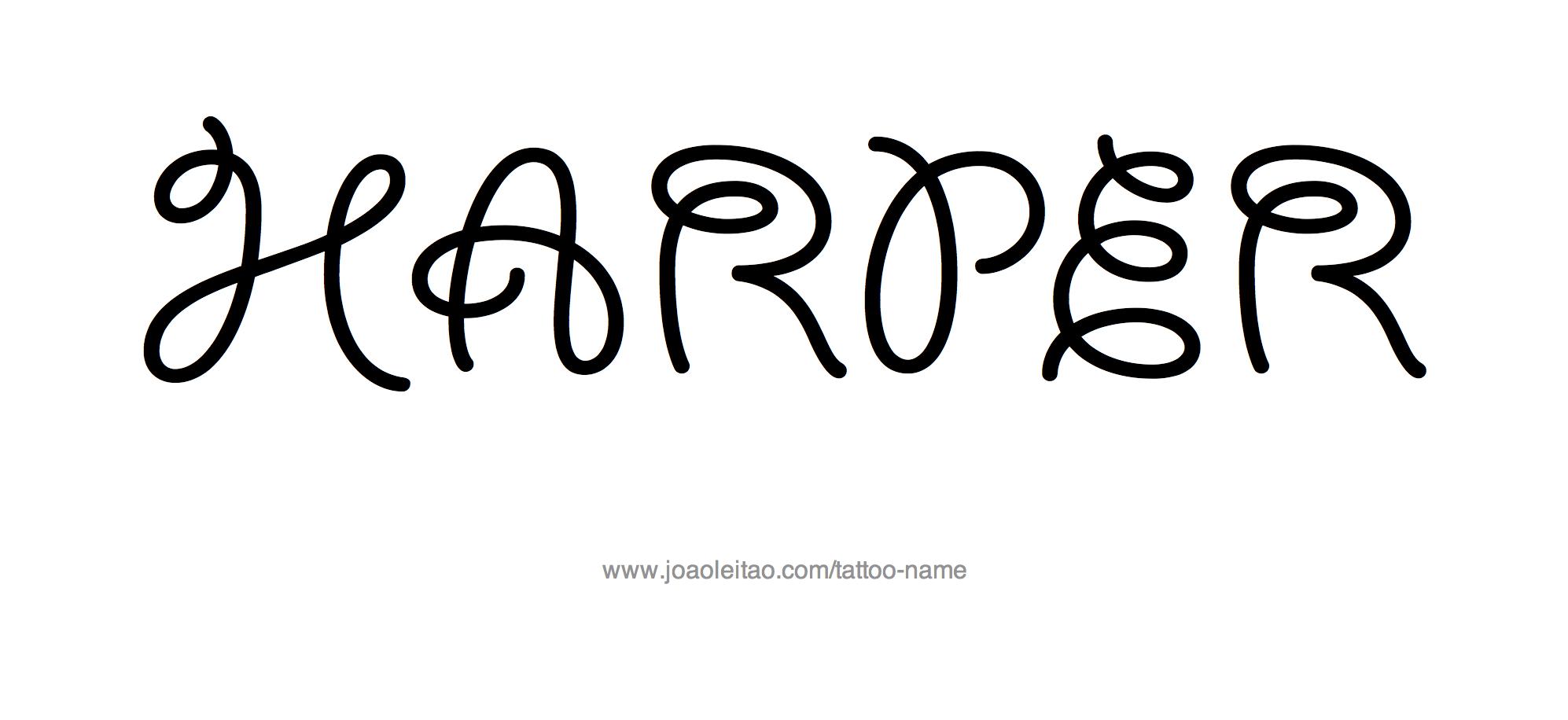 harper name tattoo designs. Black Bedroom Furniture Sets. Home Design Ideas
