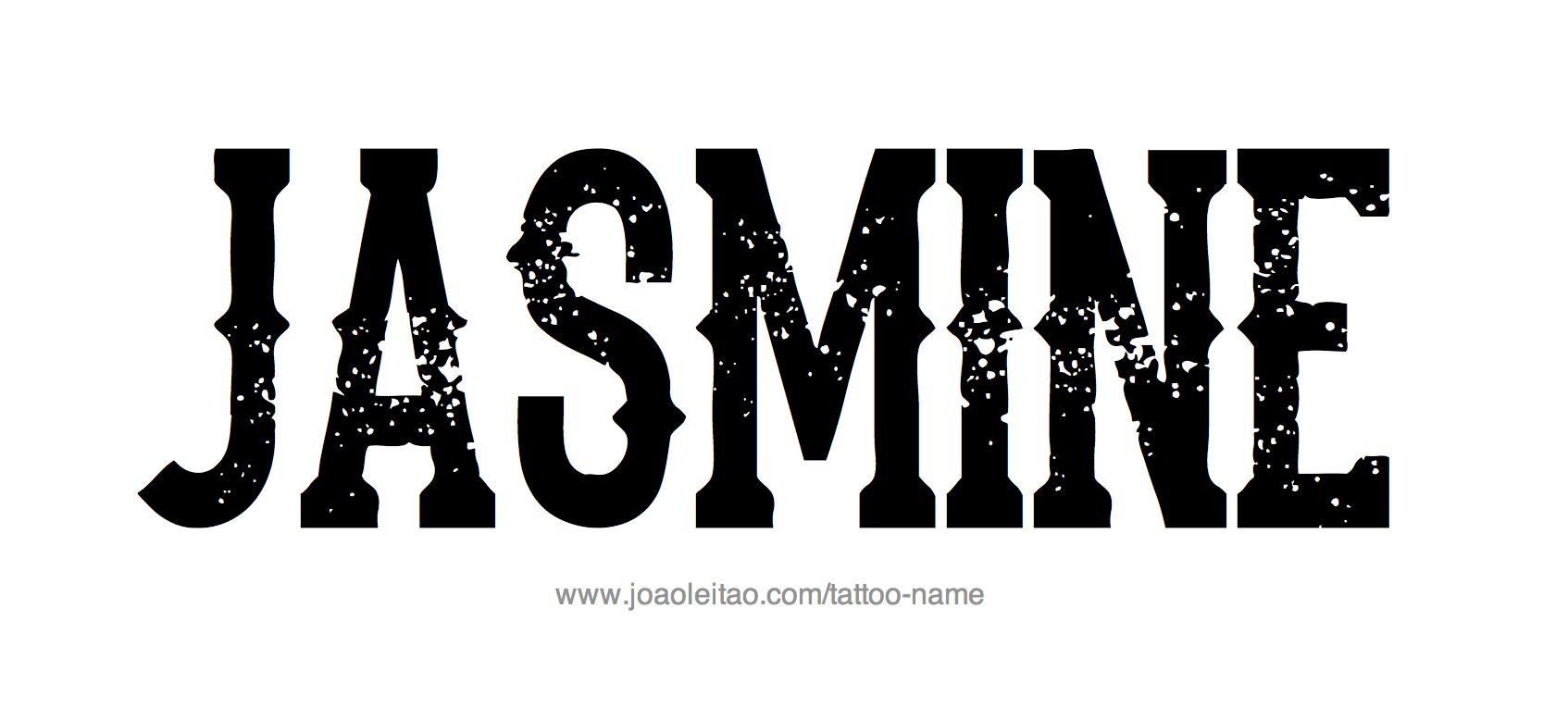 Jasmine Name Tattoo Designs