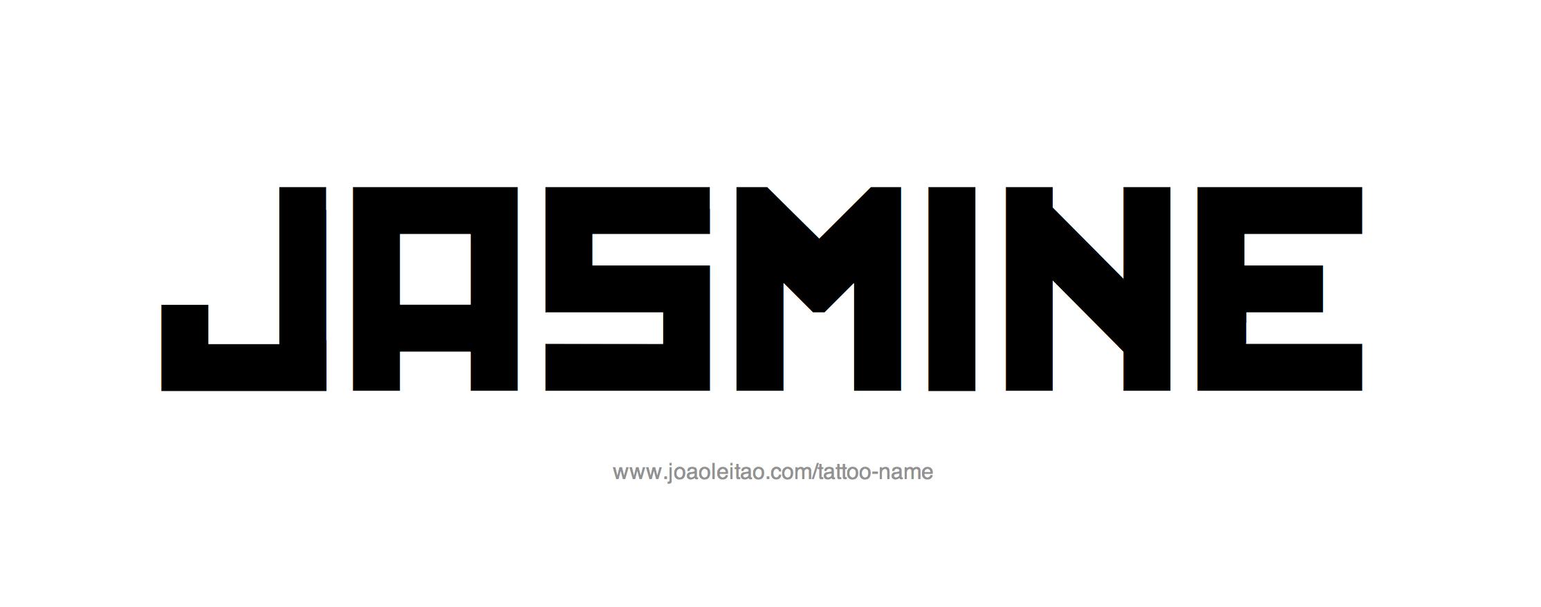 %name%: Jasmine Name Tattoo Designs