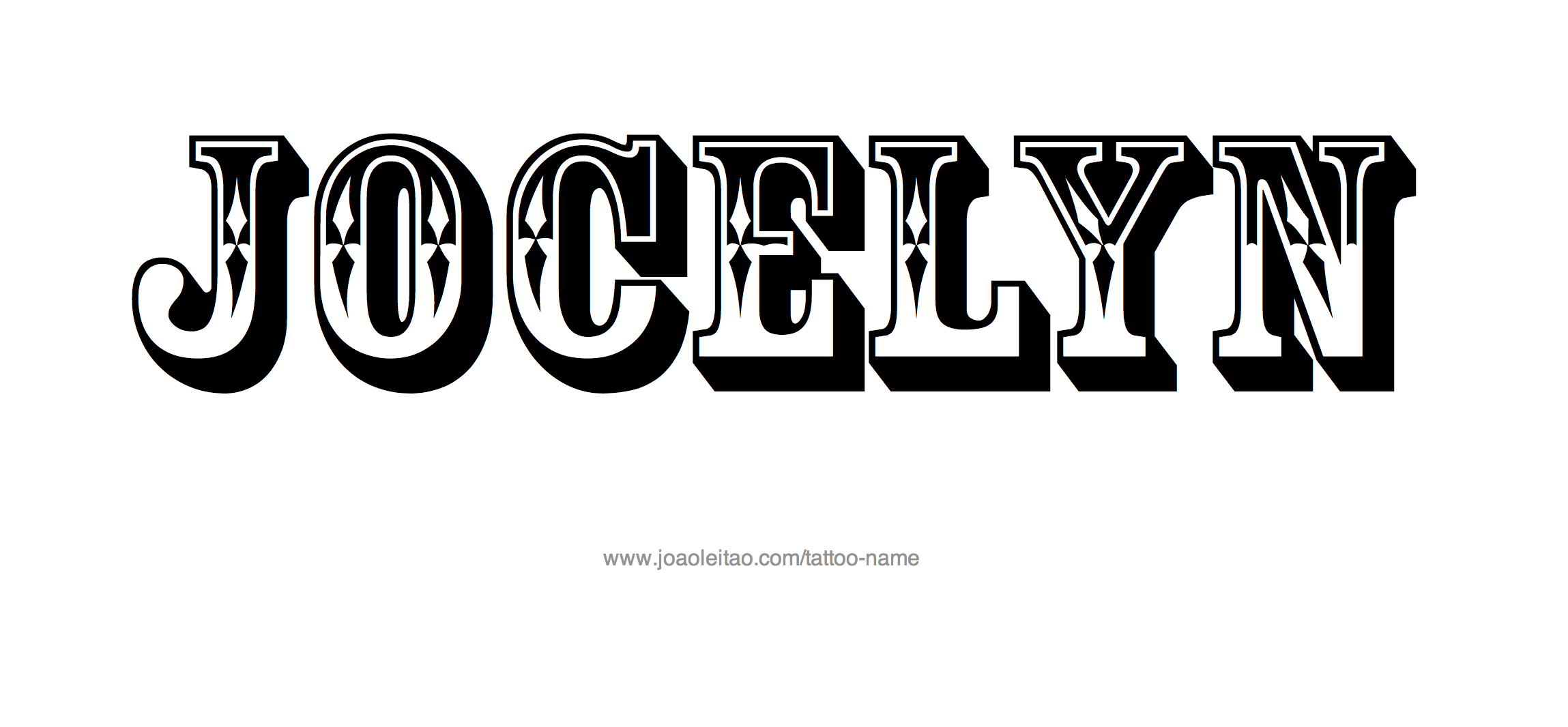 Jocelyn Name Tattoo Designs