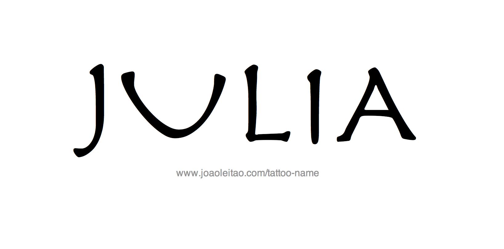 Julia Name Tattoo Designs