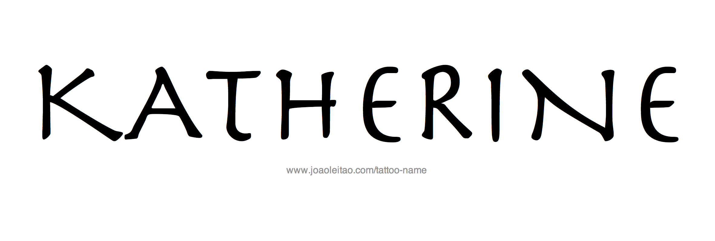 Name: Katherine Name Tattoo Designs