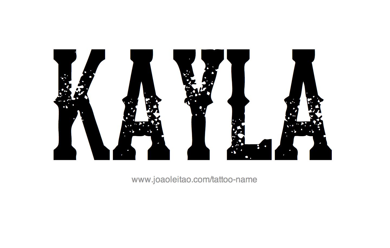 name kayla wallpaper