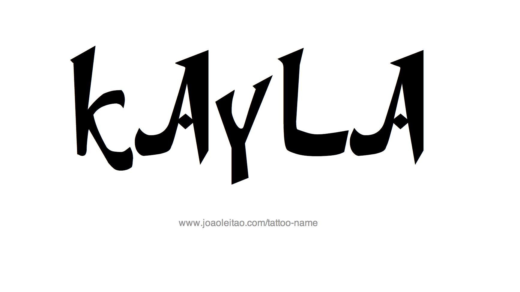 Tattoo Design Name Kayla