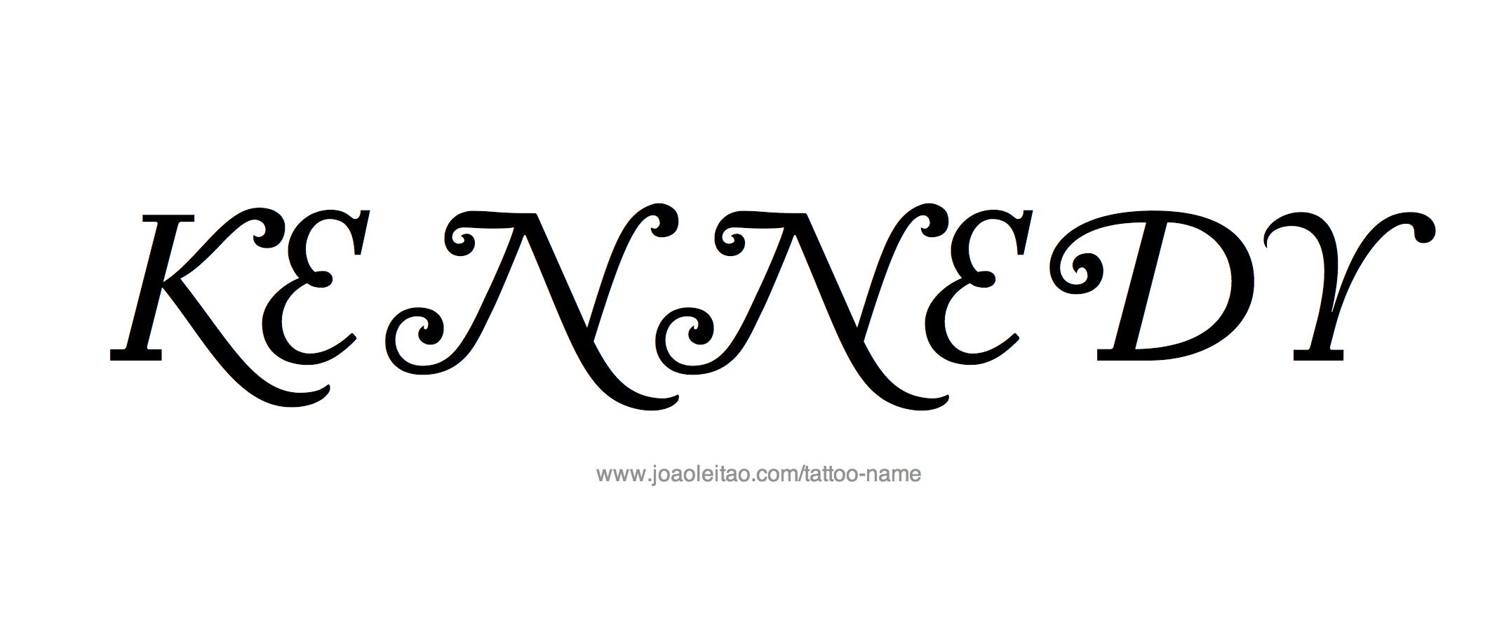 Name: Kennedy Name Tattoo Designs