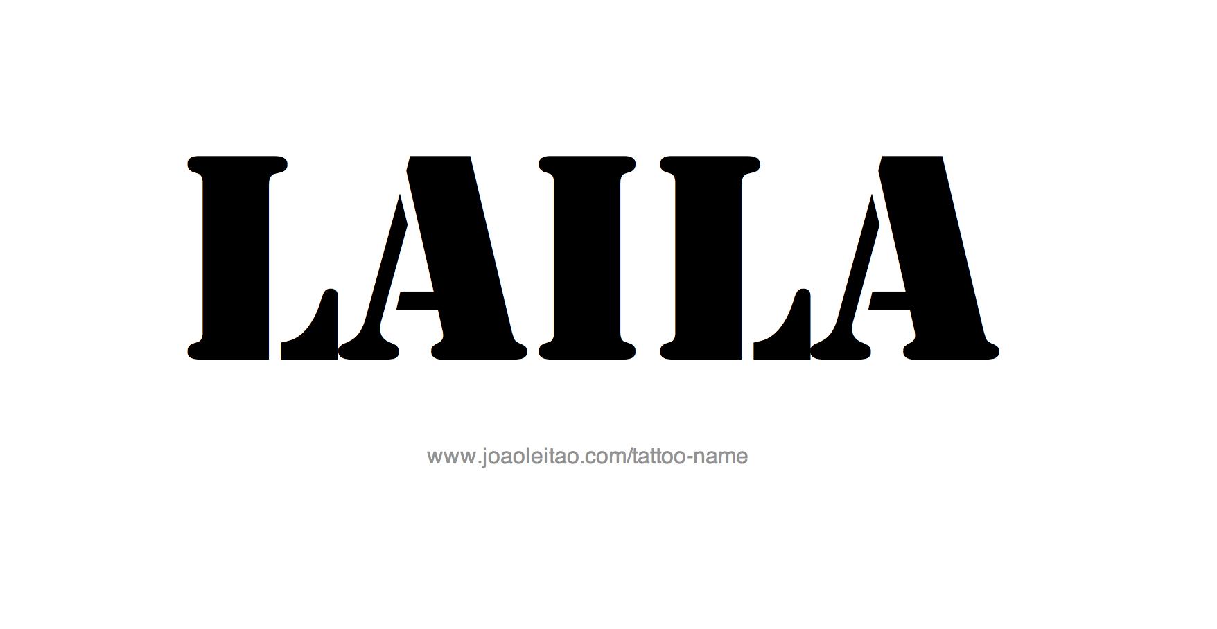 Name: Laila Name Tattoo Designs