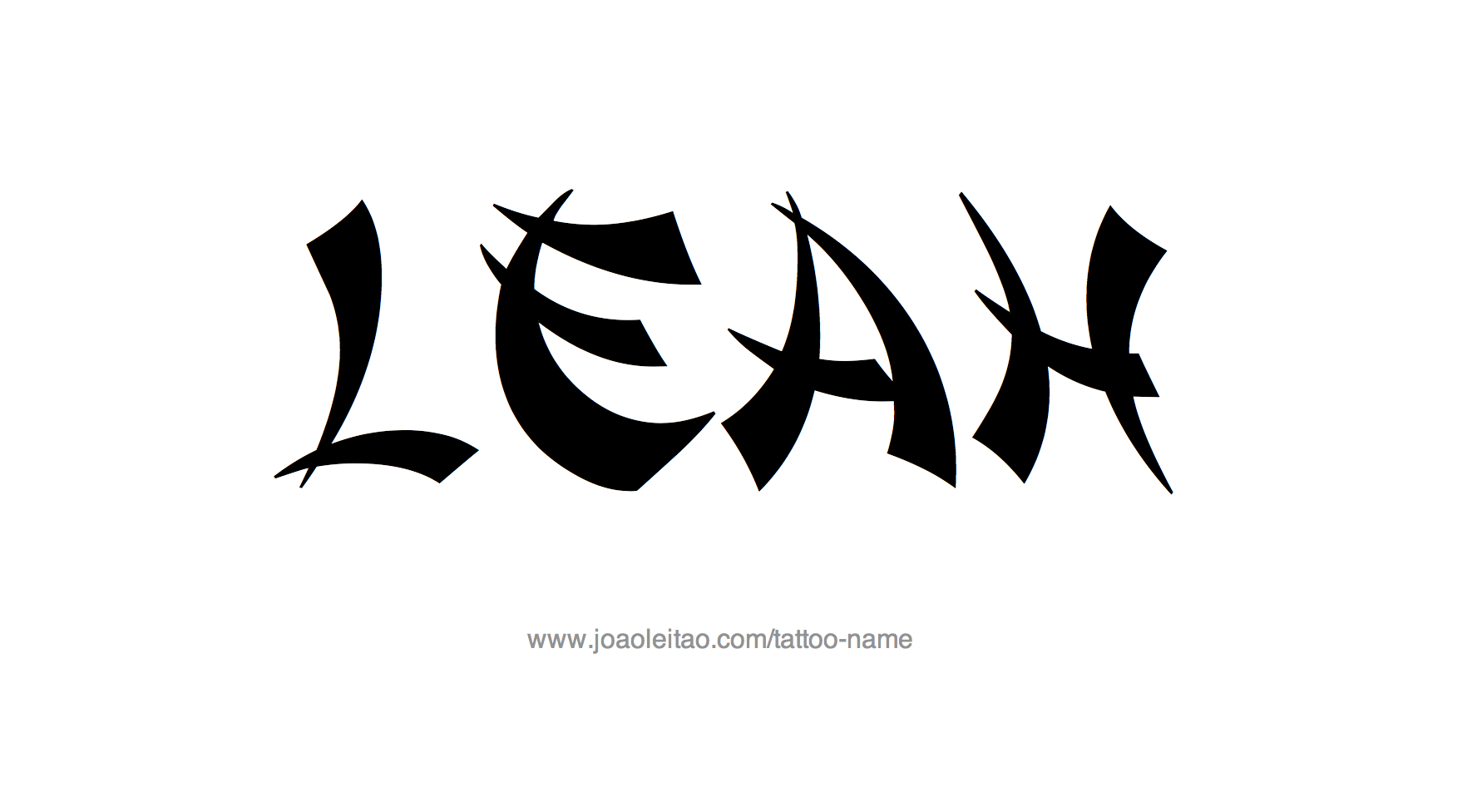 Leah Name Design